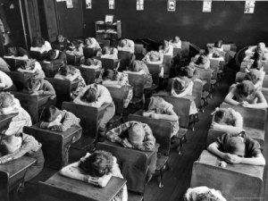 Class in position for the Standard Oil Broadcast