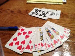 Best Pinochle hand - a double run