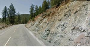 A two lane hi-way over Yreka Mountain