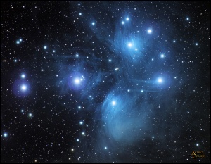 Pleiades Nubula known as the Seven Sisters