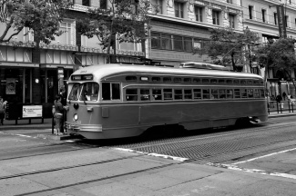 The only way to travel - san Francisco Muni Streetcar