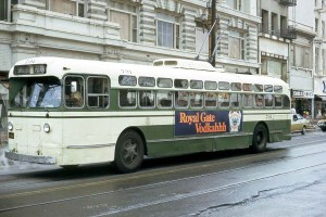 The No. 5 McAllister - Ferry electric bus