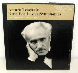 Artaro Toscanini - Nine Beethoven Syphonies - 78 rpm recordings.