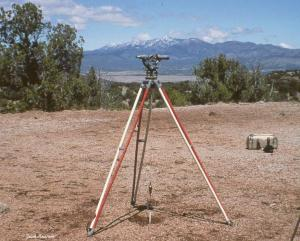 A surveyors transit