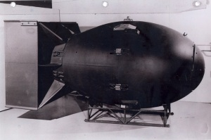 Named Fat Man - the atomic bomb dropped on Nagasaki