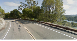 The back way to Castro Valley on Lake Chobot Rd.