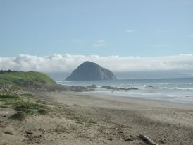 Morro Bay Rock as seen from Highway 1