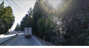 Highway #17 over the Santa Cruz Mountains