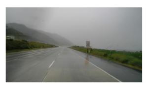 A wind driven rain on 101
