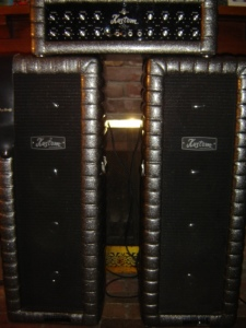 Kustom column PA speakers and amp