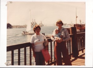 Gary's Mom, Jan with Robert at Jack London Square Oakland