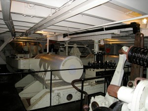 The Queen Mary's engine room