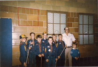 Keith Hoffman and the Kiowa Cub Scouts