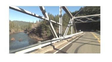 The Eel River bridge