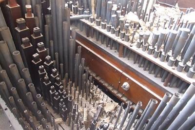 Ranks of organ pipes