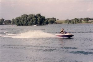Gary on Sea Doo wave runner