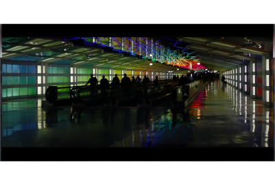 A memorable underground passage at O'Hare