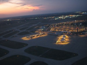 Wichita's Mid Continent Airport from the air