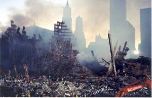 The aftermath of the Twin Towers