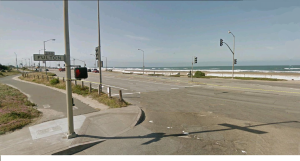Fulton St. ending at the ocean
