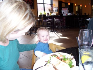 Brennan not much into the food.